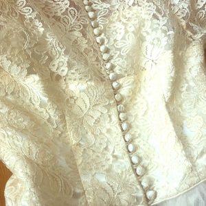 Vintage ivory, tulle dress